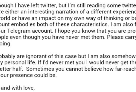 بخشی از نامه یک دوست نادیده